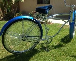 Royal Blue and Sapphire Blue kandy on kustom Painted Bicycle.