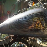 Route 66 Harley with Pearls, lots of them, combined to create a truly awesome kustom paint.