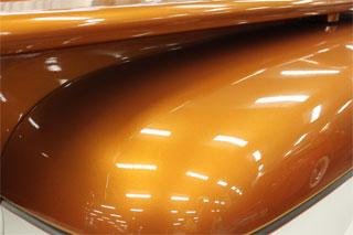 Orange Copper Kolor Pearls on Hood.