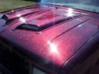 Rose Red Metal Flake on Ford Exporer
