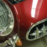 Mauve Rose red Kolor Pearls on Corvette Hood.