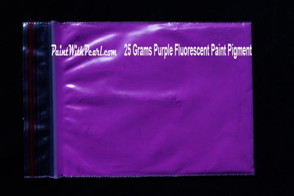25 gram bag of purple-fluorescent-paint-pigment