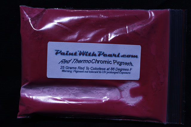 Red Thermochromic Paint Pigment