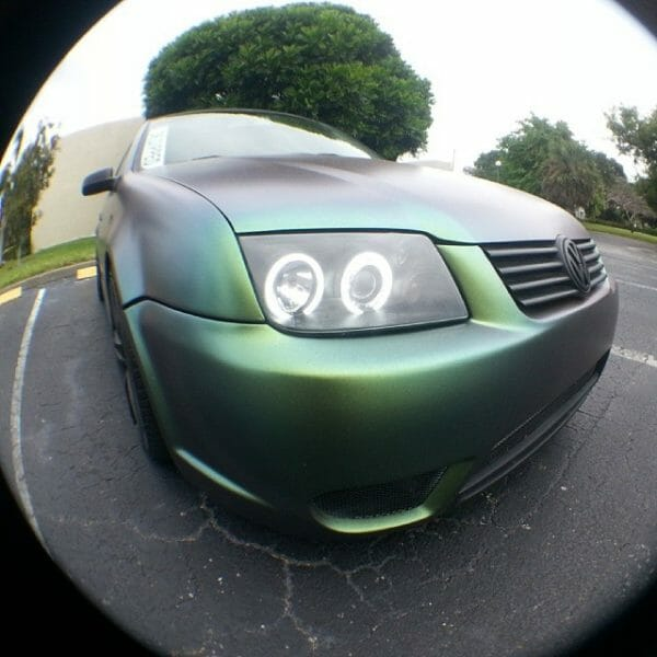Jetta painted by Dr. Dipped With our Green Gold Indigo Kolorshift Pearls