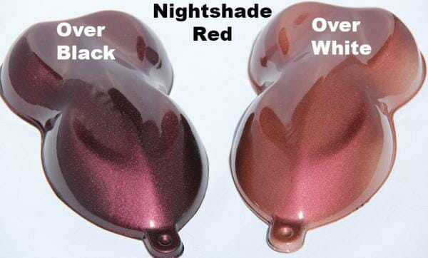 Nightshade Red over Black and over White