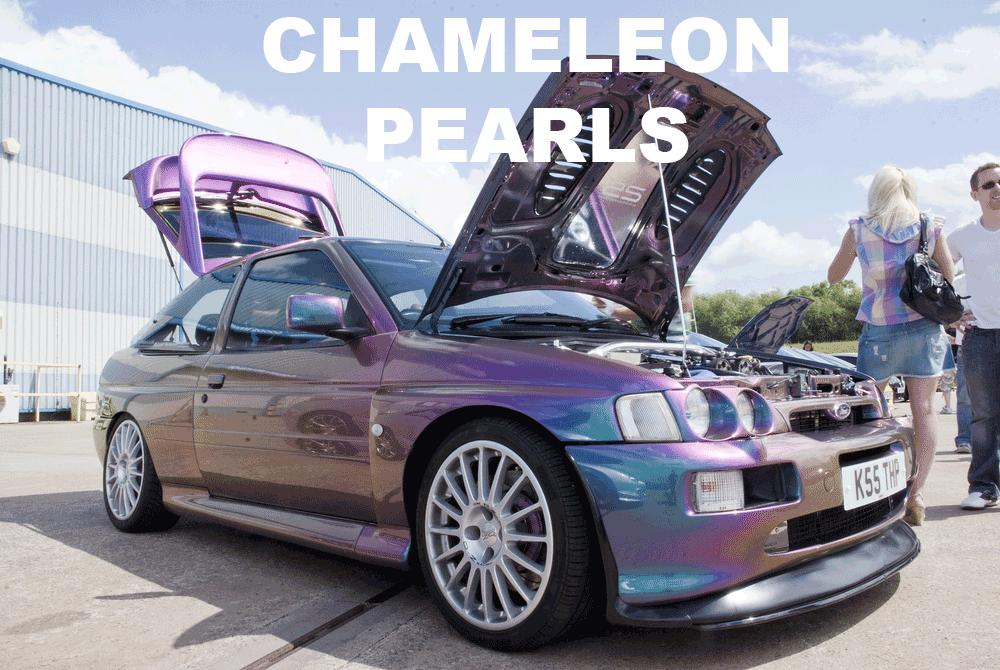 Kolorshift Pearls in every multi-color option here. Works in paint, powder coat, even nail polish and shoe polish. Try our Chameleon Colors!