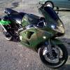 Green Holographic on a Metal Flake Super-bike.