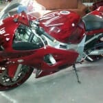 kandy Red GSXR painted using several PWP products.