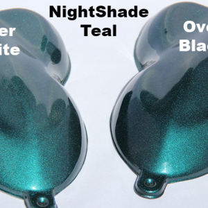 Nightshade Teal kandy Paint Pearl over Black and over White