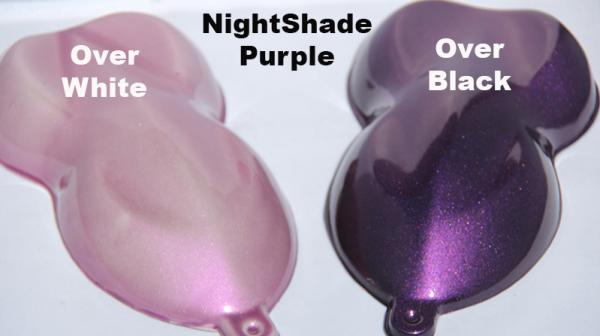 Nightshade Purple-Pink kandy Paint Pearl over White and Black