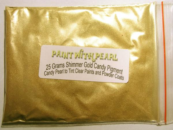 25 gram bag of Shimmer Gold kandy Pearl