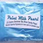 25 gram bag of Shimmer Sky Blue kandy