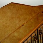 Bronze Copper Kolor Pearls over tan base latex used in Faux Finish Glaze.