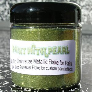 Chartreuse Metal Flake - Solvent Resistant Flakes for Paint