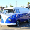 Royal Blue Kolor Pearls VW Micro Bus Van.