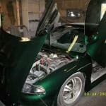 This Emerald Green Metal Flake Paint By Karetakers Kustoms is awesome.