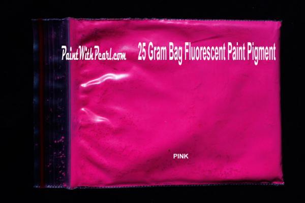 25 Gram Bag Pink Neon Glow Paint Pigment