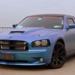 Queenz Dipped Charger in Kolorshift Pearls Blue to Purple. Matte Finish kustom Paint job.