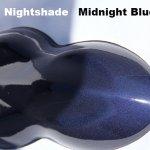 Midnight Blue kandy Paint on a speed-shape.
