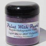 4 oz Jar Purple Holographic Metal Flake