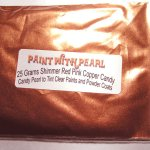 25 gram bag of Shimmer Red-Pink kandy Pearl