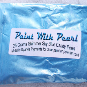 25 gram bag of Shimmer Sky Blue kandy