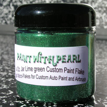 Lime Green Metal Flake