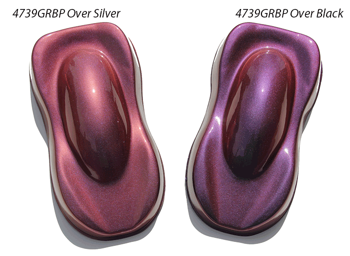 Gold Red Blue Purple Kolorshift Pearls 4739GRBP