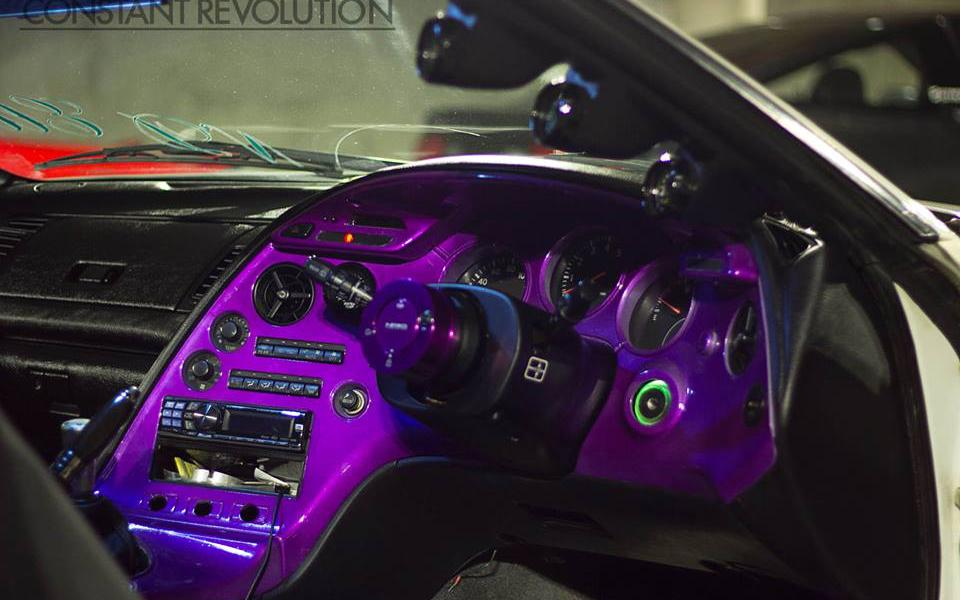 4759RBP Red Blue Purple Kolorshift Pearls on dash board.