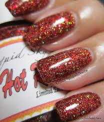 kustom made finger nail polish using our pigments and flakes