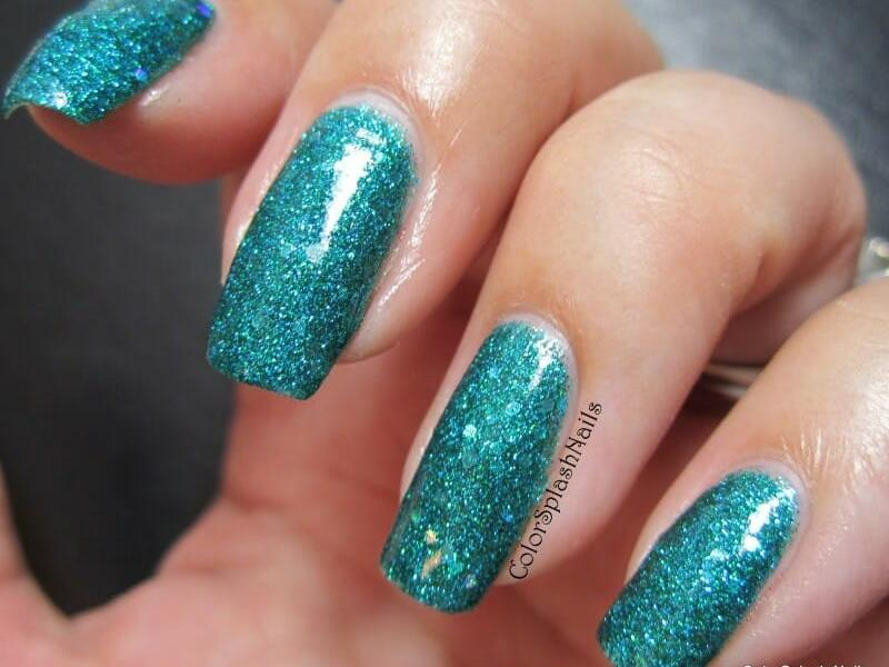 kustom made nail polish using our pigments and flakes