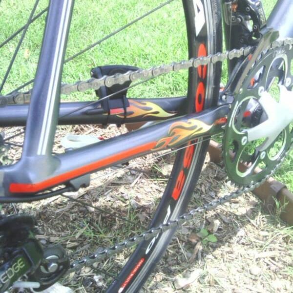 road bike with gunmetal black kandy pearl