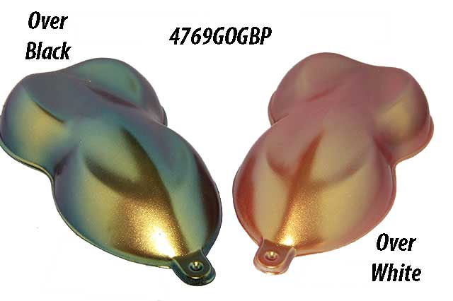 Gold Orange Green Blue Purple Kolorshift Pearls for kustom Paint and Powder coatings.