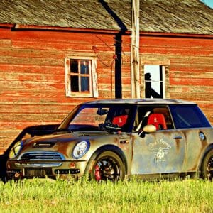 This is no rust bucket mini cooper. It is an effects paint that is getting lots of notoriety for home made DIY kustom paint jobs.