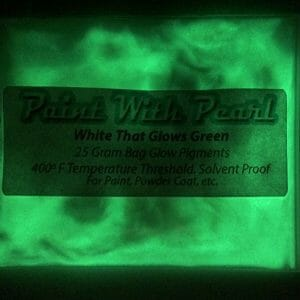 White to Green Glow In The Dark Paint Pigments - Long Lasting