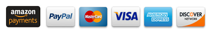 Credit Card Forms Of Payment including Amazon, Paypal, Visa, Mastercard, American Express