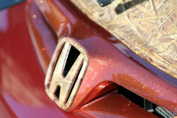 Orange Copper Metal Flake on a Honda hood
