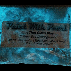 Blue to Blue Glow In The Dark Paint Pigments - Long Lasting Glow