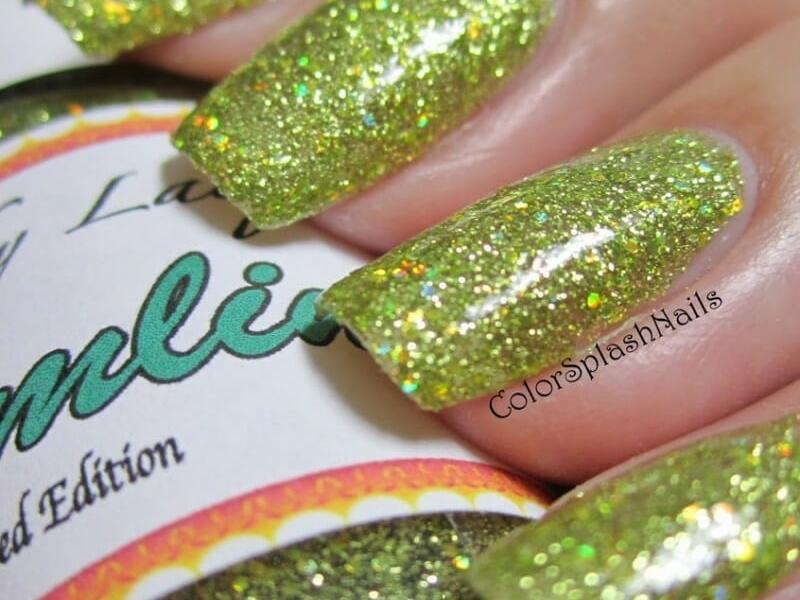 kustom made finger nail polish using our pigments and metal flakes