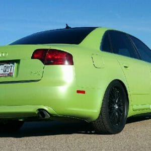 Lemon Lime Yellow Gold Flip Paint Kolorshift Pearls  on Audi by Dynamic Auto Dip.